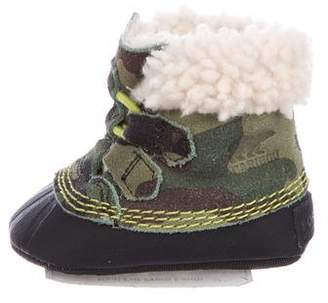 Sorel Boys' Camouflage Shearling Booties w/ Tags