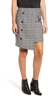 CHRISELLE LIM COLLECTION Chriselle Lim Bianca Houndstooth Button Front Skirt