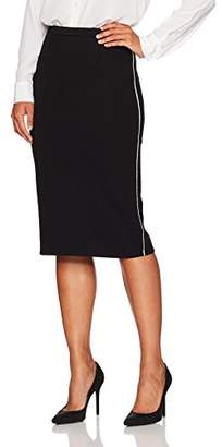 Ellen Tracy Women's Petite Size Pencil Skirt with Contrast Piping Detail