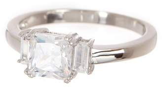 Argentovivo Sterling Silver Princess & Emerald Cut CZ Center Ring