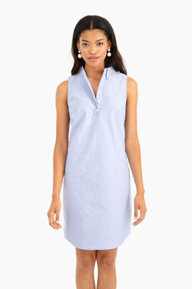 Sail to Sable Sleeveless Oxford Shirting Dress