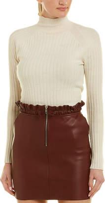 cf626a48e Maje Drawcord Leather Mini Skirt