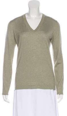 Brunello Cucinelli Cashmere-Blend Knit Top gold Cashmere-Blend Knit Top