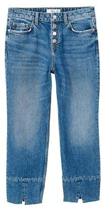 MANGO Button straight jeans