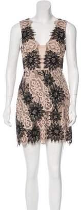 BCBGMAXAZRIA Lynne Lace Mesh-Accented Dress