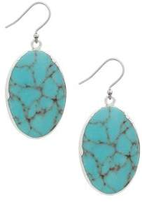 Lucky Brand Land and Sea Titanium Drop Earrings