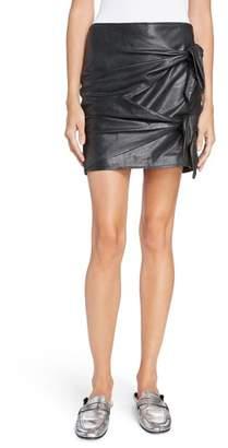 Etoile Isabel Marant Gritanny Tied Leather Skirt