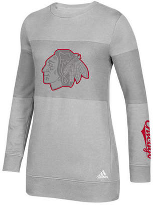 adidas Women Chicago Blackhawks Inside Logo Outline Sweatshirt