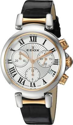 Edox Women's 10220 357RC AR LaPassion Analog Display Swiss Quartz Black Watch