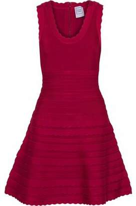 Herve Leger Jules Flared Bandage Mini Dress