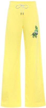 Off-White Off White Wide-leg cotton trackpants