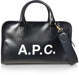 A.P.C. Sylvie Black Signature Large Satchel Bag