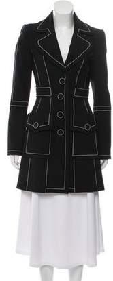 Andrew Gn Wool Contrast Coat