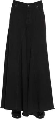 MM6 MAISON MARGIELA Open Weave Wide Cotton Denim Jeans