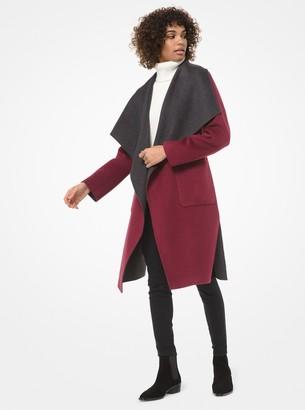 MICHAEL Michael Kors Double-Face Wool-Blend Wrap Coat