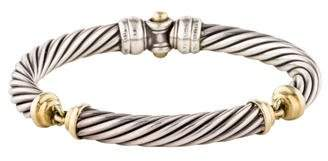 David Yurman Two-Tone Metro Cable Bracelet