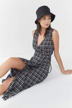 Urban Renewal Vintage Remnants Plaid Flannel Midi Dress