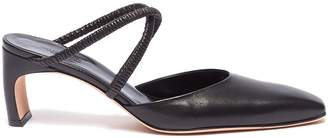 Rosetta Getty Cross strap leather mules