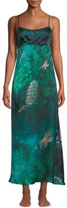 Chloé Morpho + Luna Forest Sleeveless Silk Nightgown
