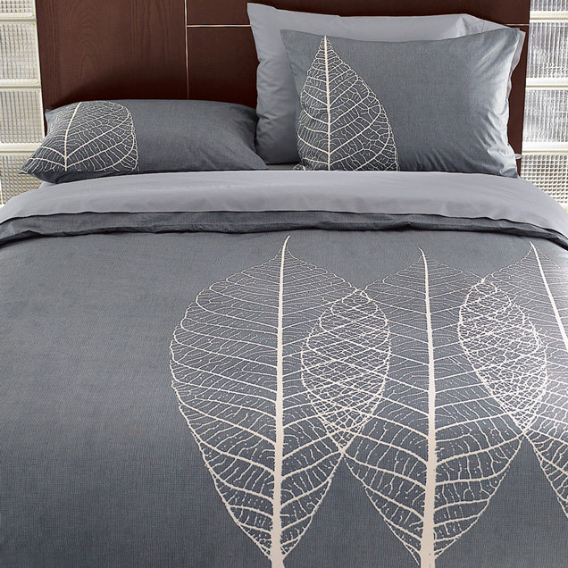 Etched Leaf Duvet Cover + Shams