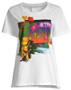 Etro Butterfly& Toucan Graphic Tee