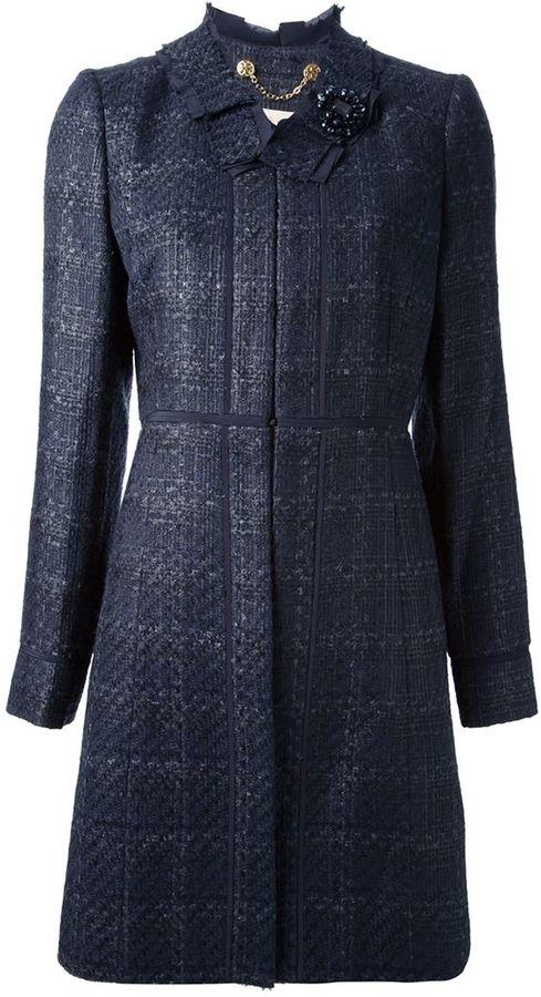 Tory Burch tweed coat