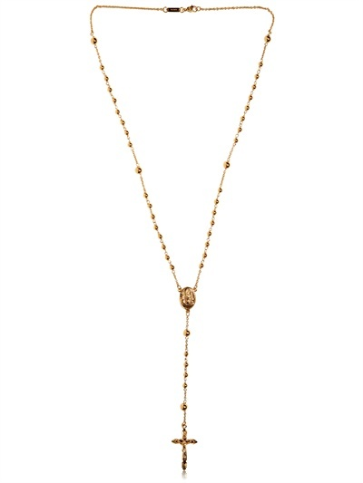 Dolce & Gabbana Gold Rosary Necklace