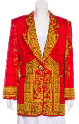 Gianfranco Ferre Silk Quilted Jacket
