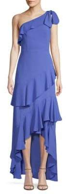 Jordan Ruffle One-Shoulder Maxi Dress
