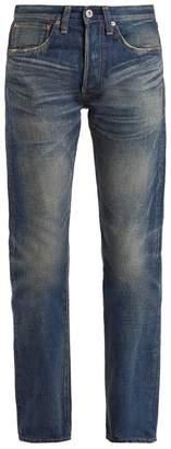 Junya Watanabe Straight Leg Washed Cotton Denim Jeans - Womens - Indigo