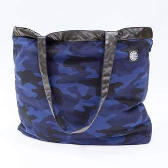 Blade + Blue Blue Camouflage & 'Faux' Leather Reversible Jumbo Tote Bag