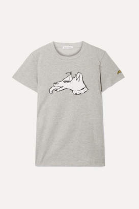 Bella Freud Printed Cotton-jersey T-shirt - Stone