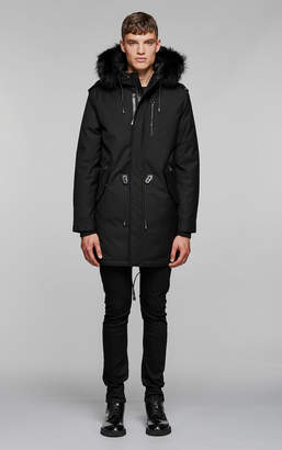 Mackage MORITZ-DX flannel parka with fur lined hood