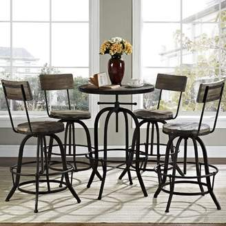Modway Gather 5 Piece Dining Set