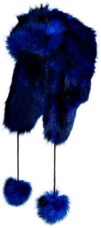 Juicy Couture Bright Lapis Faux Fur Hat