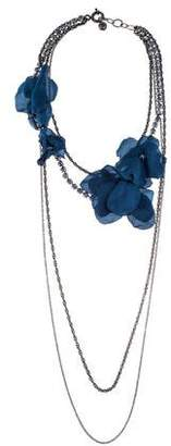 Lanvin Crystal & Floral Multistrand Necklace