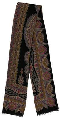 Etro Wool-Blend Patterned Scarf