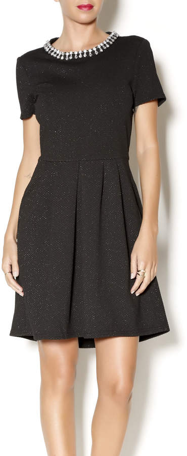 Collective Concepts Collective Concepts Black Rinestone Dress