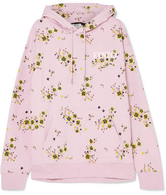 Kenzo Oversized Floral-print Cotton-jersey Hoodie - Pastel pink