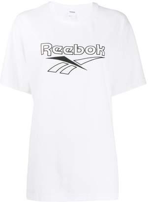 Reebok logo print jersey T-shirt