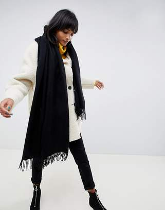 Asos DESIGN oversized lambswool scarf with tassels