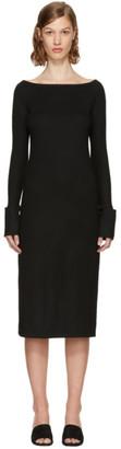 Helmut Lang Black Boat Neck Dress $345 thestylecure.com