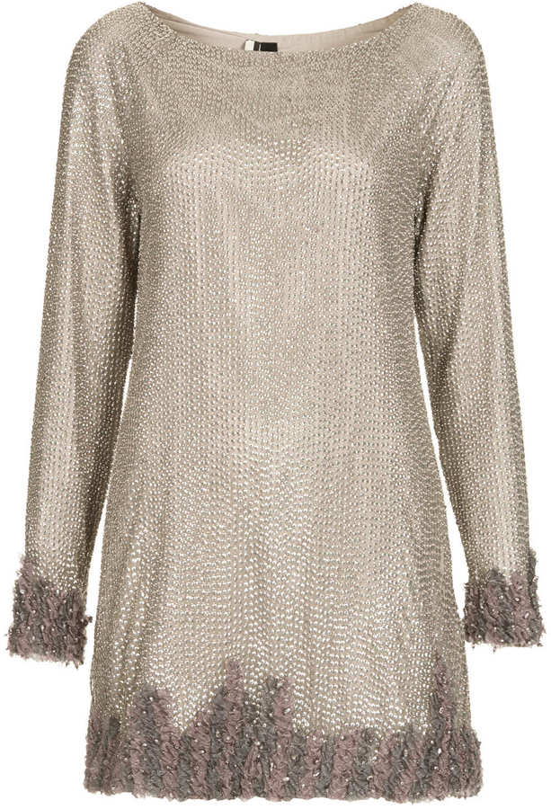 Topshop **LIMITED EDITION Sequin Shift Dress