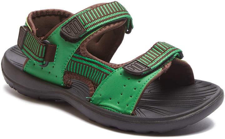 Green & Coffee Sandal - Adult