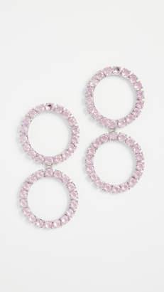 For Love & Lemons Crystal Ball Earrings