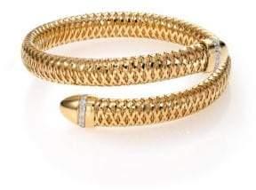 Roberto Coin Primavera Diamond 18k Yellow Gold Wrap Bracelet