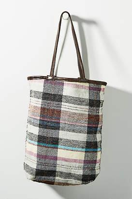 En Shalla Plaid Tote Bag