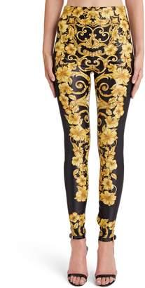 Versace First Line Hibiscus Print Leggings