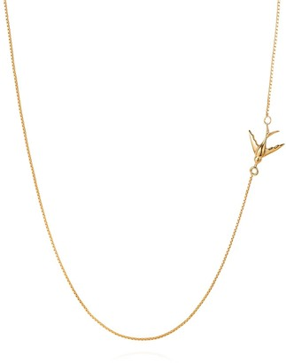 Lee Renee Swallow necklace gold vermeil