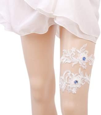 Xoemir Sexy Blue Lace Engagement Anniversary Bridal Leg Garter for Women for Sex